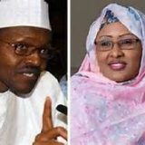 Nigerian President Muhammadu Buhari and his wife